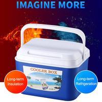 5L Car Fridge Portable Food Storage Box Car Cold Box Fishing Box Cooler Box Portable Travel Camping Cooler Box Glaciere Cooler