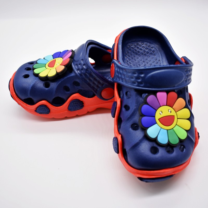 Party Gift Children Girls Slip On Clog Slipper With Colorful Flowers