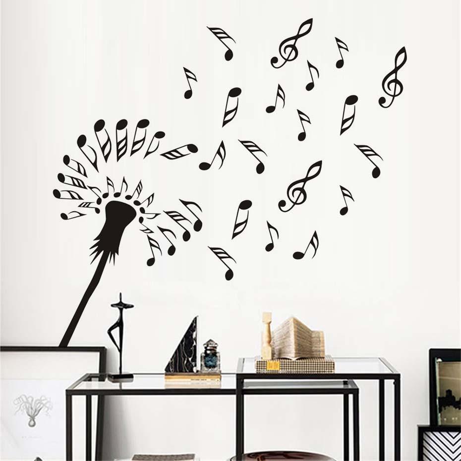 Aliexpress Com Buy New Design Creative Diy Wall Stickers: Creative Design Dandelion Flowers Blossom Wall Decals