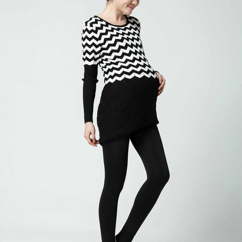 2560c2fa76819 ... Maternity Solid Black Leggings over Bump Maternity Yoga wear slim for pregnancy  woman clothes high Elastic ...