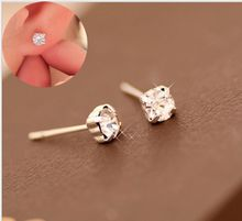 Wedding Jewelry Design Water Crystal Rhinestone Earrings Luxury Stud For Women Gift