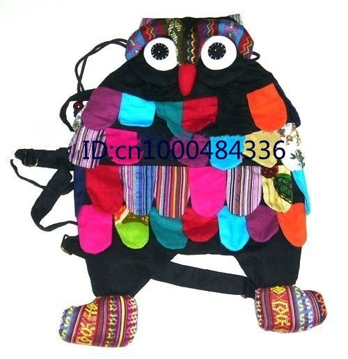 2011 new products! 20pcs Handmade OWL Bag/Handmade craft owl bag/kids backpack satchel+Free shipping!