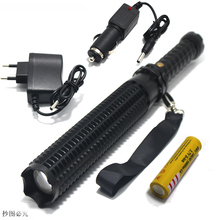 CREE XM Q5 Telescopic baton LED Flashlight Zoom long shots self defense Security Patrol 18650 Led rechargeable flashlights