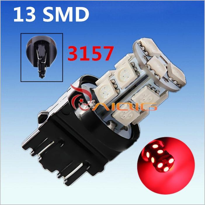 3156 3157 piros, fehér, borostyán sárga, 13 SMD 5050 LED-es - Autó világítás - Fénykép 5
