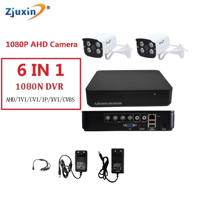 1PC 4CH 1080P AHD DVR System HD outdoor 2MP Security Camera HDMI USE 1080P 3.6MM Lens AHD waterproof Cam Set CCTV Video 4ch KIT 4ch cctv system 1080p hdmi ahd 4ch cctv dvr 4pcs 1 3 mp ir outdoor security camera 960p waterproof camera surveillance system