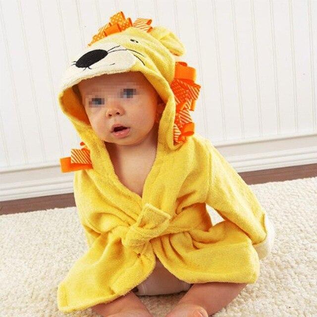 Детские Пляжное Полотенце Дети Смешное Животное Сова Панда Акула Капюшоном Одежда для Новорожденных Пижамы Полотенце Пляжное Полотенце Детские Халат