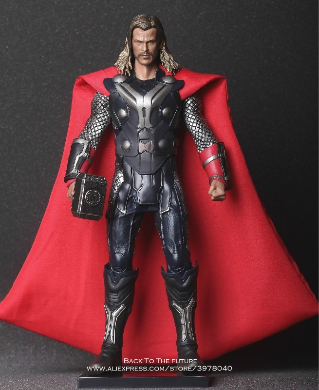 Disney Marvel Avengers Thor 30cm Action Figure Anime Mini Decoration PVC Collection Figurine Toy model for child gift kids 30cm big size marvel iron man movable avengers movie anime figure pvc collection model toy action figure for friends gift