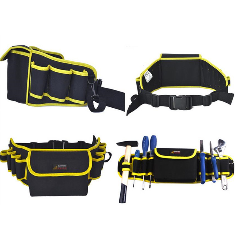 Подробнее о Waist Tool Bag Canvas 570*160mm Electrician Portable Bags 600D Oxford Waterproof Thicken heavy weight duty waterproof oxford cloth multifunctional canvas tool bag 12 13 16 adjustable strap black yellow blue bags