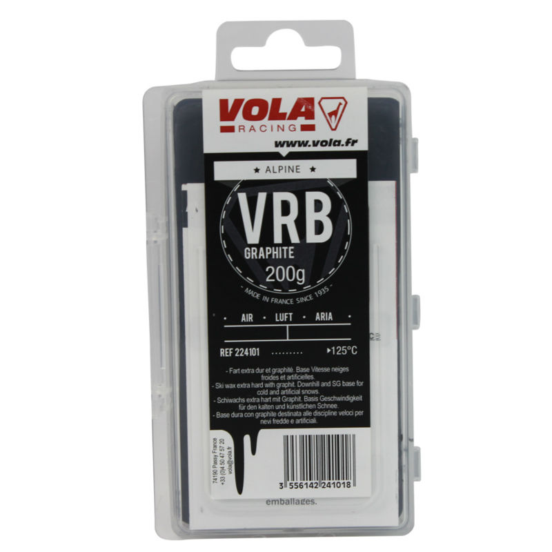 VOLA VBR Graphite Base Wax For GS And Super G,Downhill On Very Cold And Dry Snow 200g