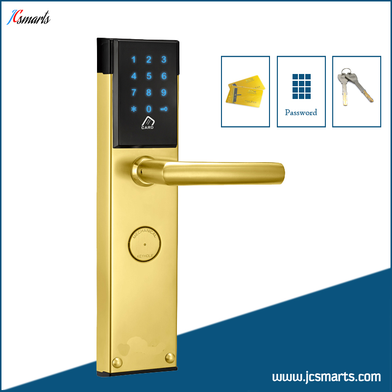 High security keyless house lock electric passcode door lock with M1 card reader apartment electric door lock keyless passcode lock with mini size
