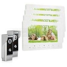 DIYSECUR 7inch Video Intercom Video Door Phone 700TV Line IR Night Vision Outdoor Camera for Home / Office Security System 2V4