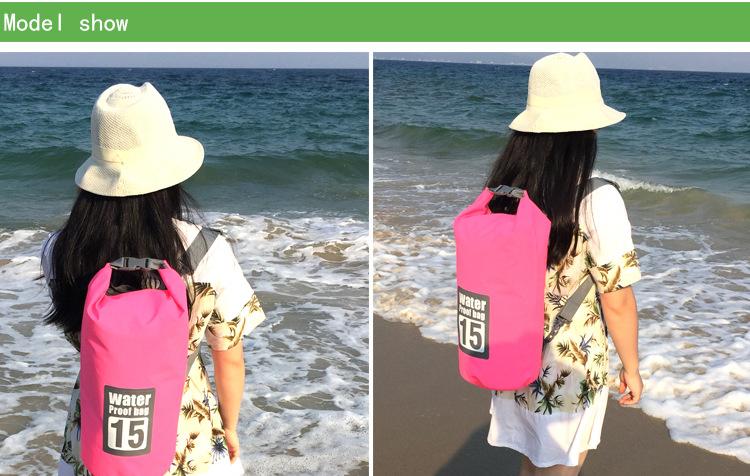 Topdudes.com - 15L 20L Outdoor River Trekking Bag Double Shoulder Strap Swimming Waterproof Bags