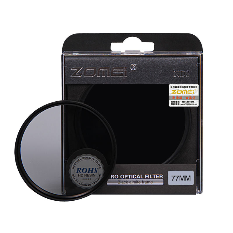 Zomei Neutral Density camera ND filter set kit 52mm 58mm 62mm 67mm 77mm 82mm ND2 ND4 ND8 for SLR DSLR camera lens nd2 400 variable nd filter for 62mm lens camera black transparent
