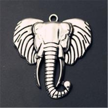 Wkoud 2 шт серебряного цвета Африканские Дикие Слоны Очаровательное