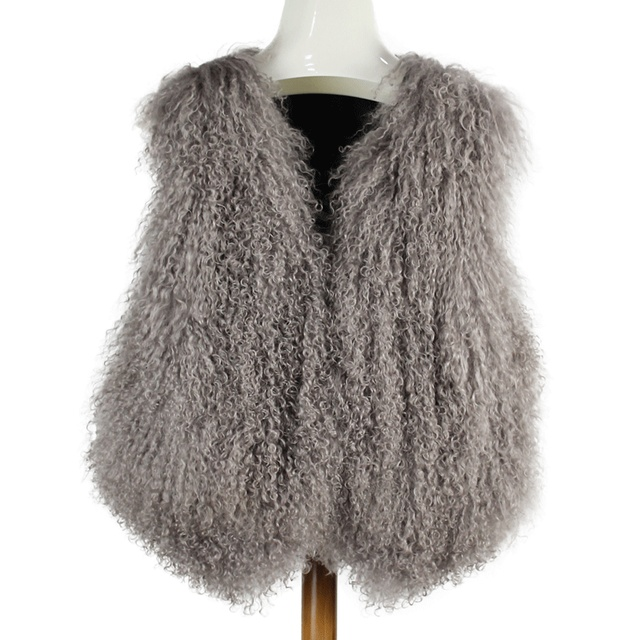 0a380851c20 new winter women real fur coat high quality genuine natural mongolia sheep  fur vest Patchwork gilet