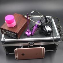 wholesale New E nail Dab Kit Electric Nail with Pink Color Titanium Nails Carb Caps Heater Coils for Christmas gift