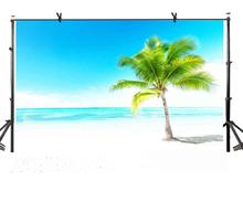 7x5ft Natural Scenery Backdrop Blue Sky and Sea Minimalism Photography Background Studio Props