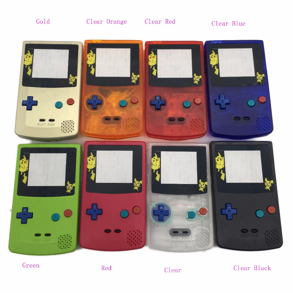 Game boy color kabel - 8sets For Pokomon Limited Housing Shell Case Cover Replacement For Nintendo Gbc Gameboy Color Console