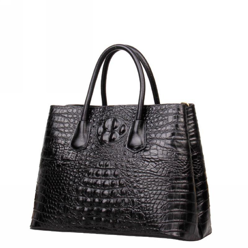 Crocodile Pattern Genuine Leather Women Bag\Handbag Luxury 100% Fashion Retro ladies' Shoulder Bag Embossed Messenger bag ~18B29 luxurious crocodile pattern shoulder bag 100