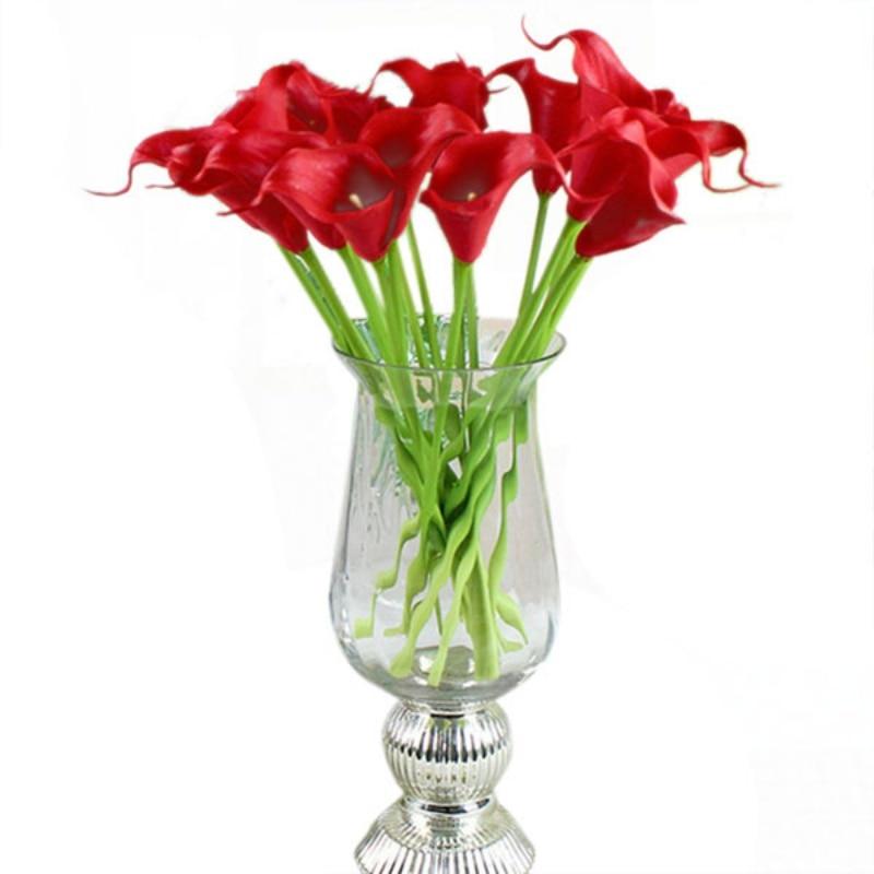 Artificial Calla Lily Bouquet Cabeza de Flor de Seda Falso Nupcial Wedding Party
