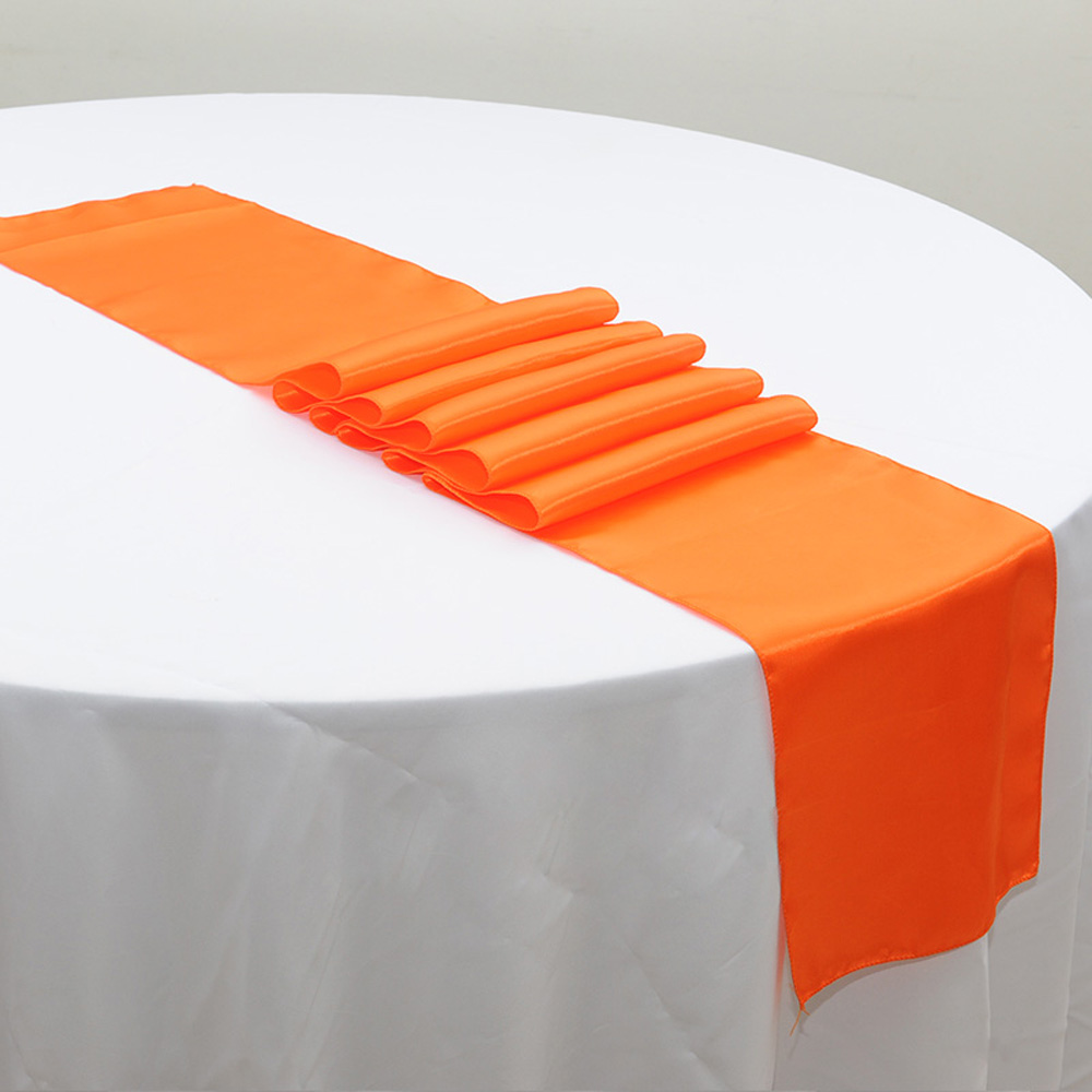 Wholesales 20PCS Orange Stain Table Runner For Wedding Party Table  Decoration Party Supply 30X275CM (12