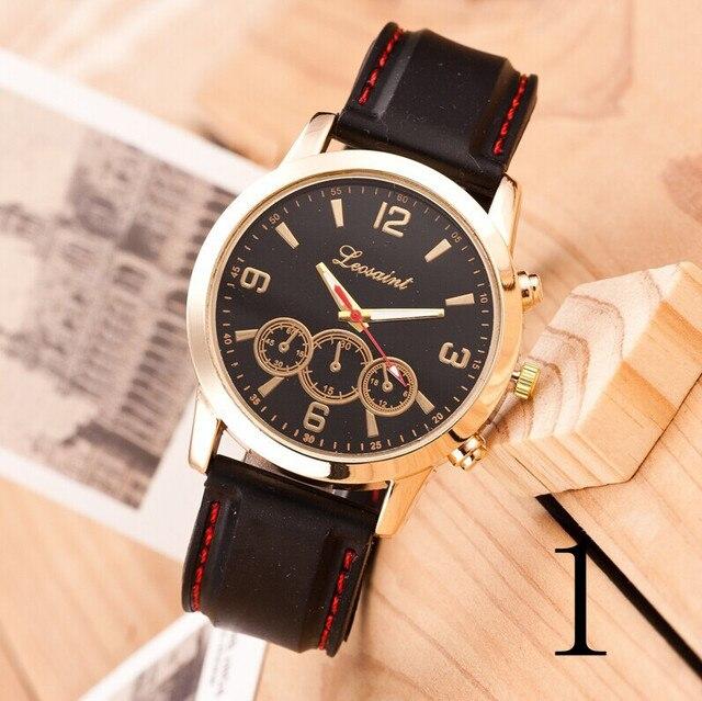 Новинка 2015 мужские кварцевые часы, ретро Мода кожаный ремешок мужские часы, соединены Дизайн Марка часы, черный и белый