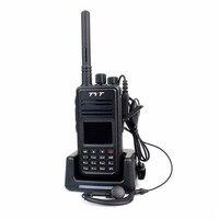 Digital TYT walkie talkie MD 380 UHF 400 480mhz 1000CH DMR Tytera protable two way radio + headset program cable