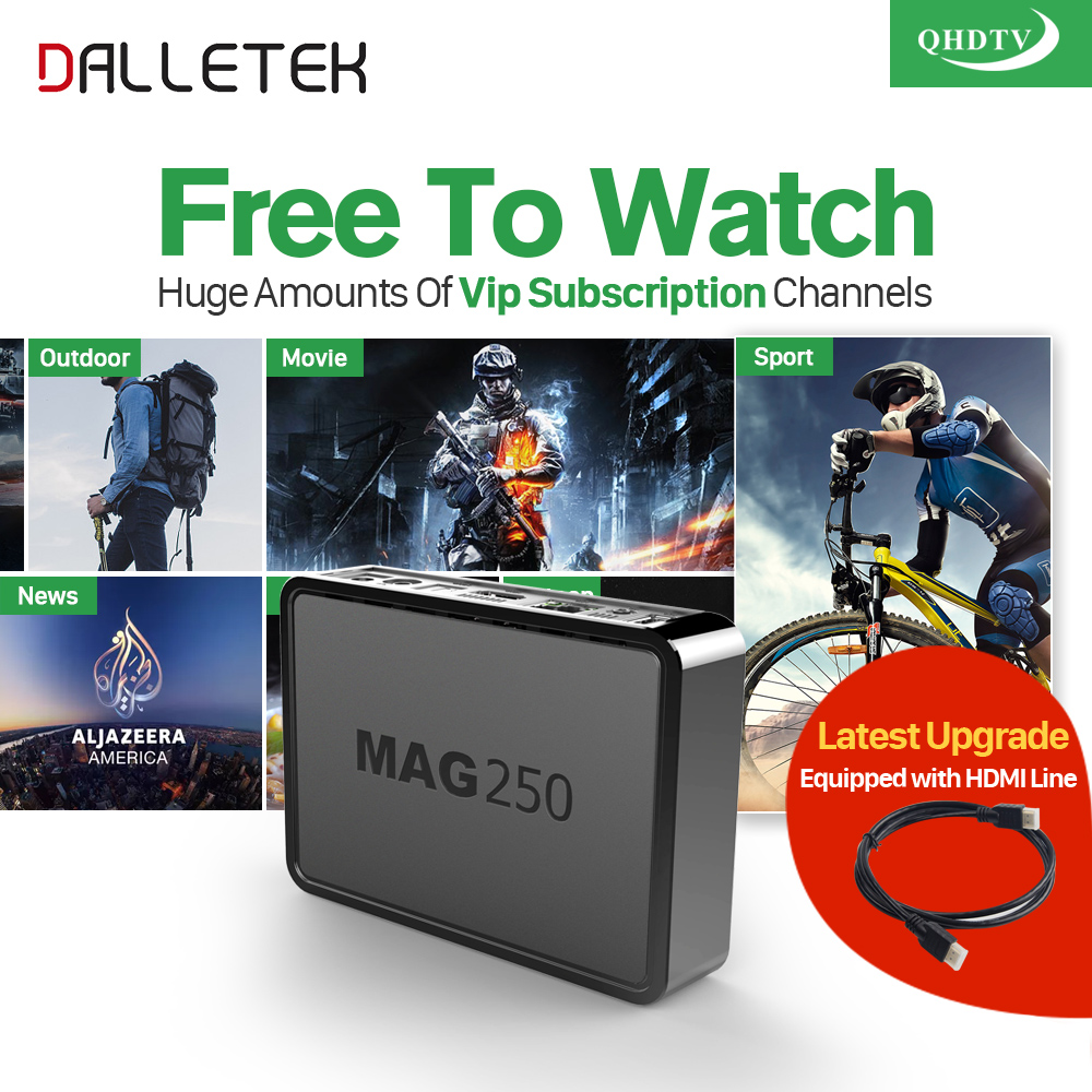 Dalletektv Linux MAG 250 Iptv Box Italia UK Subtv IUDTV QHDTV Code IPTV Europe Arabic TV Box France Brazil Mag250 IPTV Top Box new capacitive touch screen panel digitizer glass sensor replacement for clementoni clempad pro 6 0 10 tablet free shipping