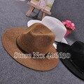 Новый летний женщин соломы Fedora Chapeu Feminino широкими полями пояса шляпы женский бесплатная доставка SDDS-011