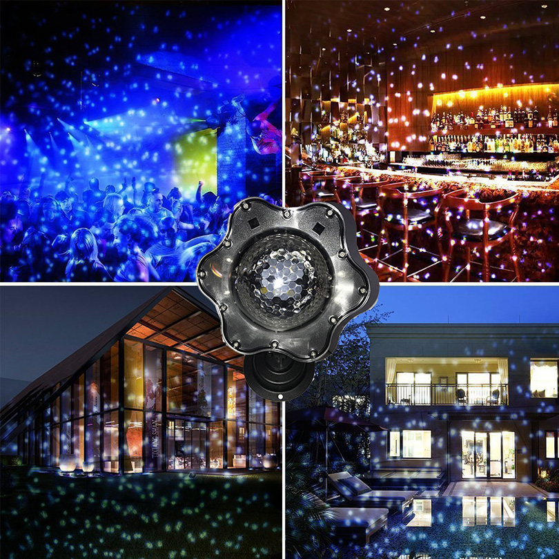 Led Snowfall laser Projector Lights Christmas waterproof Rotating Fairy Snowflake Projector Lamp for Wedding Party Garden Decor rotating violin music box wedding party decor