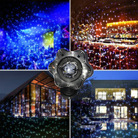 Led Snowfall laser Projector Lights Christmas waterproof Rotating Fairy Snowflake Projector Lamp for Wedding Party Garden Decor