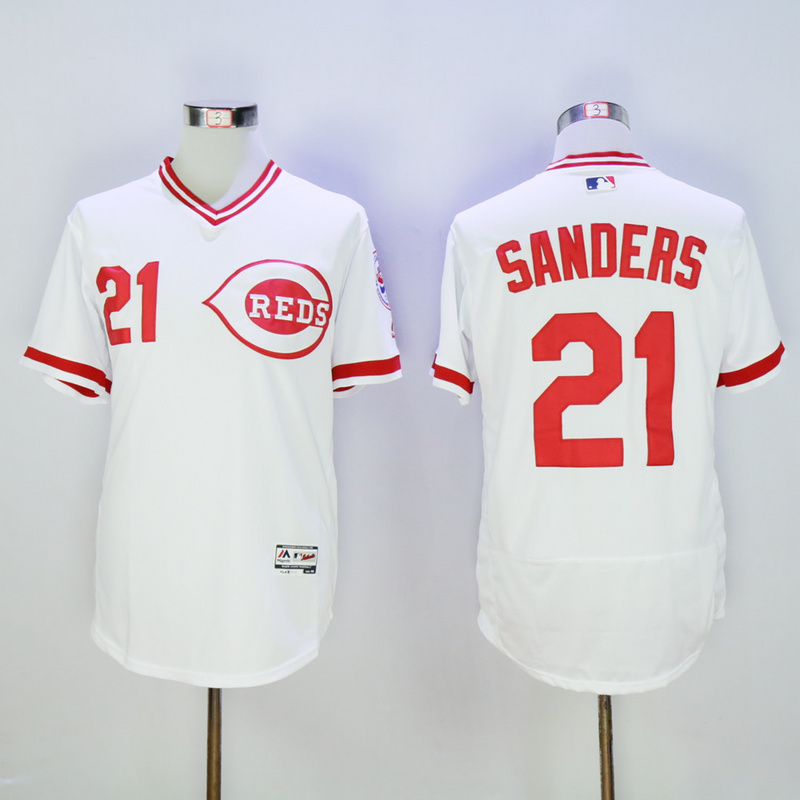 Mens Cincinnati Reds Deion Sanders Flexbase Fully Stitched Baseball Jersey