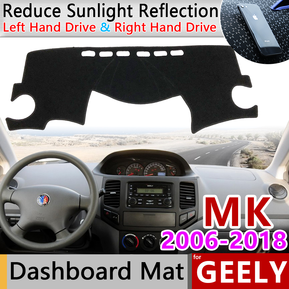For Geely MK LG 2006~2018 EC6 Anti-Slip Mat Dashboard Cover Pad Sunshade Dashmat Accessories Englon Jinying 2009 2010 2011 2012