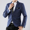 HOT Male casual jacket single breasted plus size M-5XL Mens blazer high quality suit jacket korean fashion Blue Black blazer