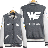 WE Team LOL Game Baseball Uniform Cloth Hoodie Coat Clothing Man Women Lovers Free Shipping