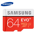 SAMSUNG Memory Card 64G SDXC TF80M Grade EVO+ MicroSD Class 10 Micro SD C10 UHS TF Trans Flash Free Shipping 64GB Original