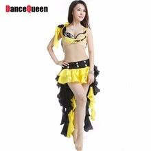 2018 Belly Dancing Clothes 3pcs Bra Skirt Leggings Clothing For Dance Indian Dresses Danca Do Ventre