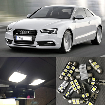 цена на 17pcs Canbus Car White LED Light Bulbs Interior Package Kit For 2008-2012 Audi A5 S5 Map Dome License Plate Light Lamp No Error