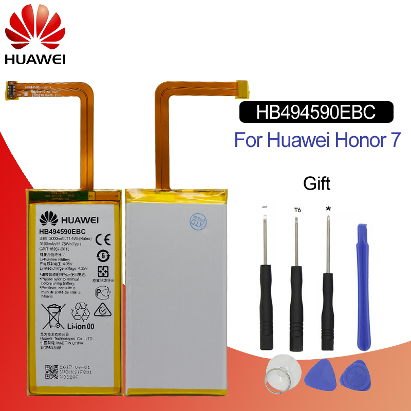 Hua Wei Original Phone Battery HB494590EBC For Huawei Honor 7 Glory PLK TL01H ATH AL00 PLK AL10 3000mah