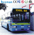 Leeman Free LED taxi display led moving sign yellow led car  bus display, bus led display screen