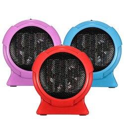 Dropshipping aquecedor portátil handy durável qualidade mini pessoal cerâmica aquecedor de espaço elétrico inverno aquecedor ventilador azul