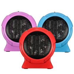 Dropshipping calentador portátil de calidad duradera Mini calentador de cerámica Personal calentador de invierno eléctrico ventilador azul
