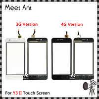 4,5 Huawei Y3II Y3 II Y3 2 3G 4G LUA-U03 LUA-L03 LUA-U23 LUA-L13 LUA-L21 pantalla táctil panel de cristal exterior del Sensor del digitalizador