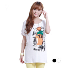 Fashion print t-shirt short sleeve for summer pregnant women clothes