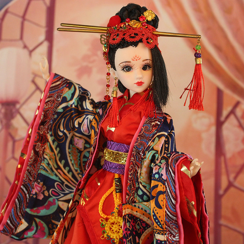 34CM Handmade Bjd Doll Chinese Costume Dolls HuaNiang Tang Beauty Doll 12 Jointed Doll Girl Toys Birthday Gift Brinquedos handmade ancient chinese dolls 1 6 bjd jointed doll empress zhao feiyan dolls girl toys birthday gifts