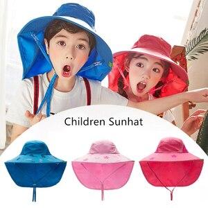 Image 3 - Kocotree bebek erkek kız güneş koruma yüzmek şapka çocuk güneş koruyucu şapka açık havada kap Unisex eğlence yaz kap çocuklar için
