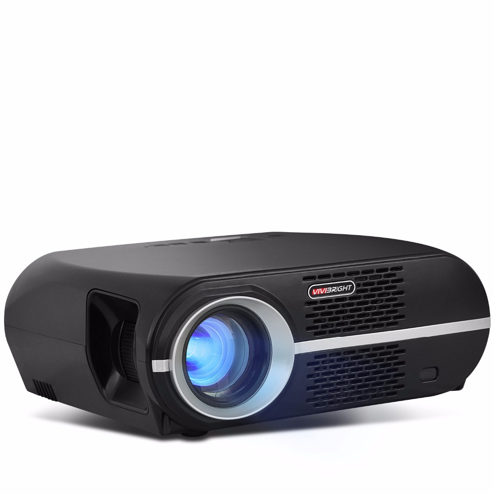 2018 Newest GP100 Home Theater Projector 3500 Lumens High Brightness LED Video Projector Beamer 1280*800 For Business цена