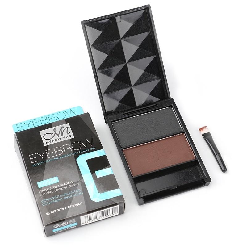 1pcs Beauty Makeups Long-lasting Waterproof Eyebrow Powder Double Color Make Up Shine Cosmetics
