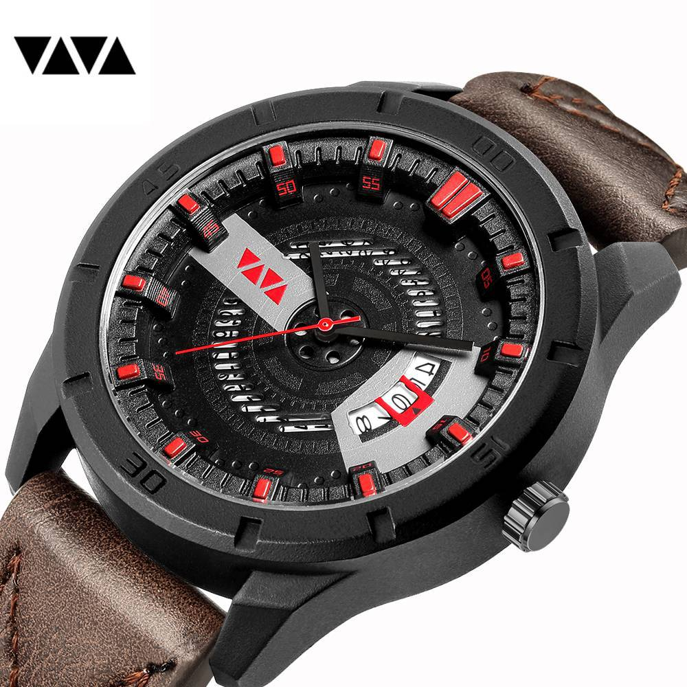 Relogio Masculino Mens Watches Top Luxury Brand Fashion Sports Waterproof Watch Men Leather Quartz Clock Male Reloj Hombre 2018