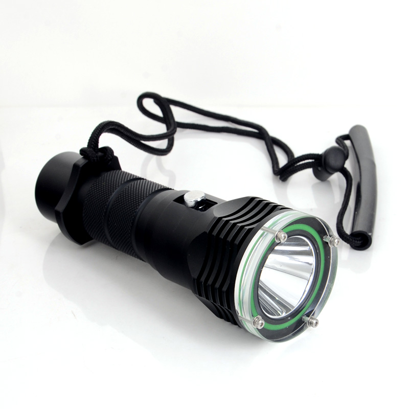 Professional LED Torch Lantern Lighting Light Underwater Diving Flashlight Torch Waterproof Portable Lamp + Battery + Charger professional torch